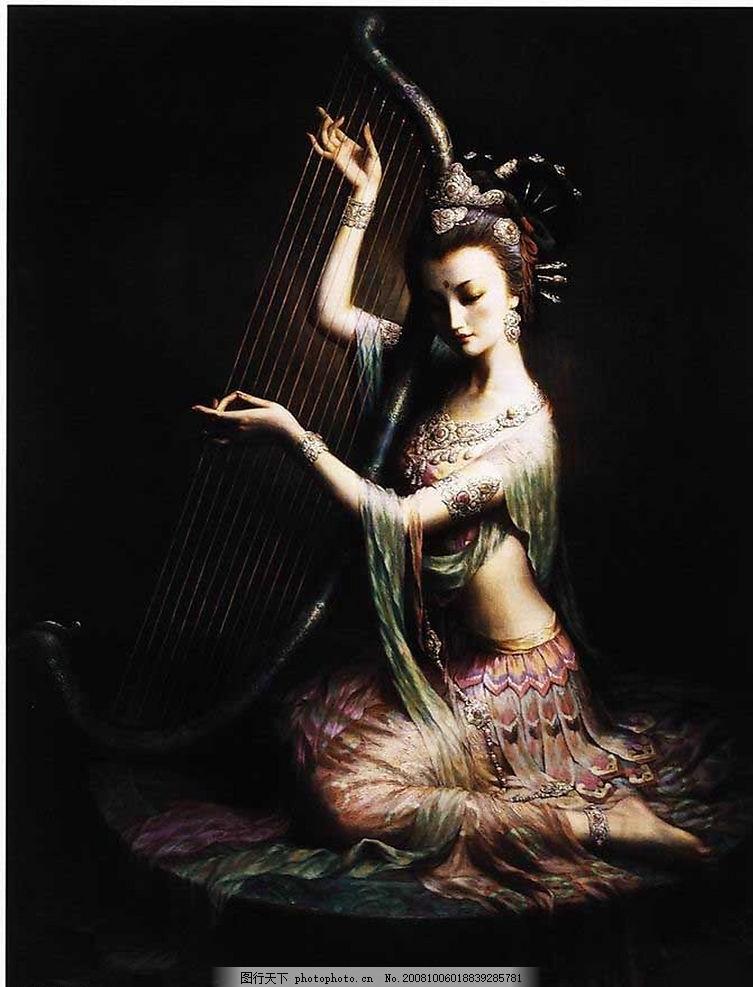 敦煌仕女 中国风 油画 文化 飞天舞 敦煌仕女系列图片