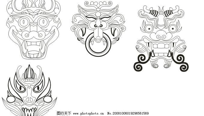传统民族面具图片
