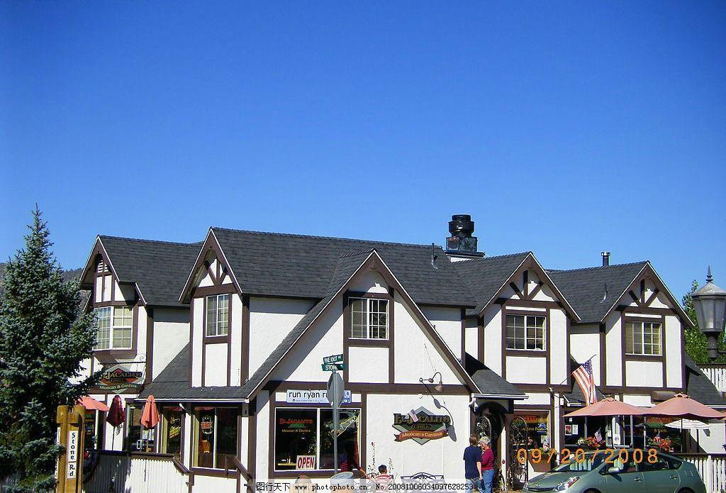 美式餐馆 建筑 北美 旅游摄影 国外旅游 摄影图库 72dpi jpg图片