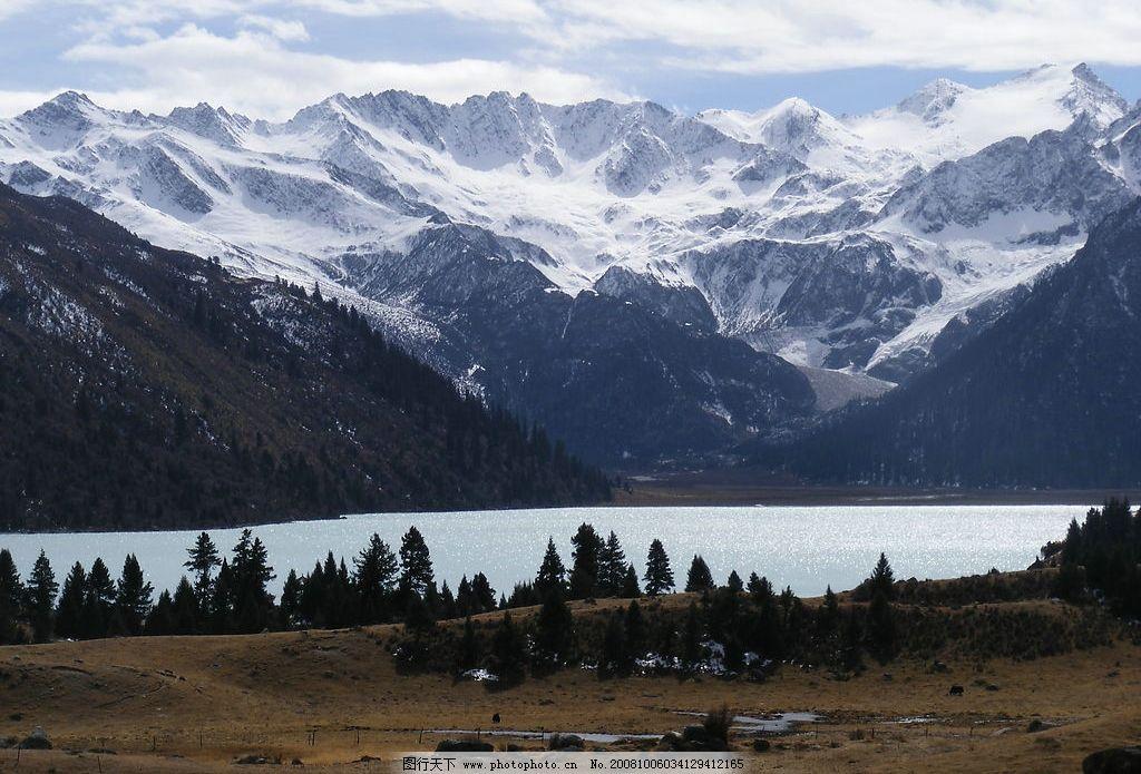 西藏风 雪峰 旅游摄影 自然风景 摄影图库