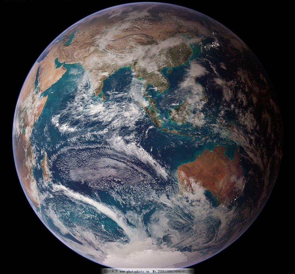 地球系列 太空 宇宙 卫星拍摄 兰色 摄影图库