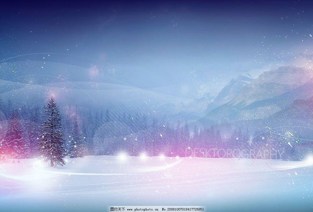 背景素材雪唯美