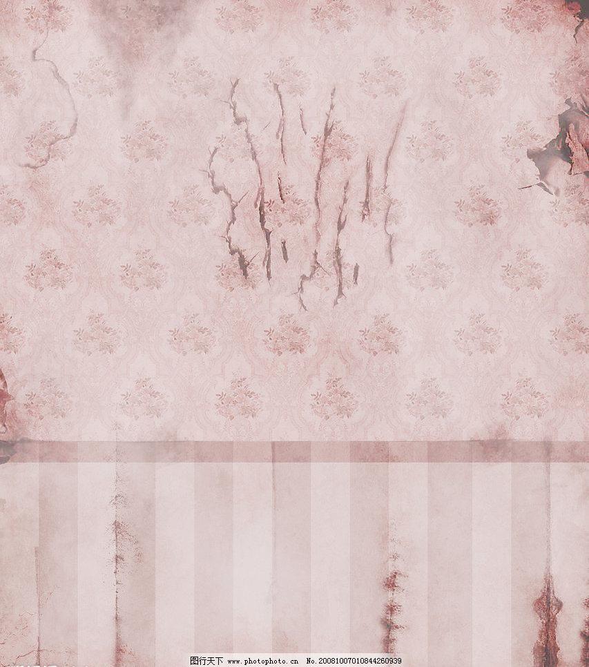 残旧欧式墙纸墙壁图片