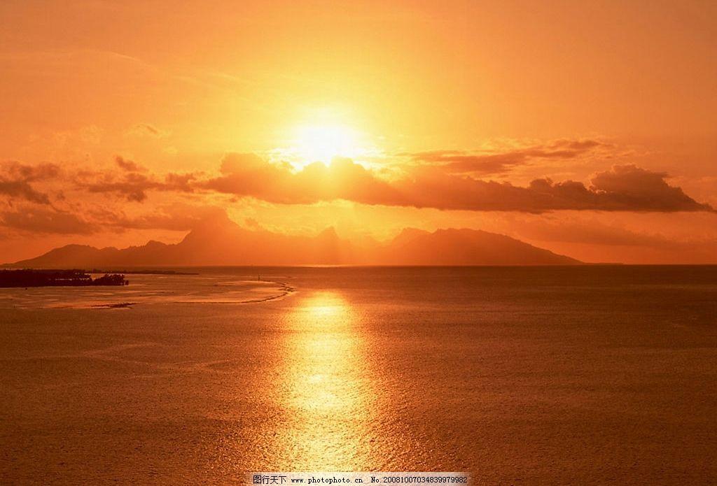 海上日出 日出 朝阳 摄影图 自然景观 自然风景 日出日落 摄影图库