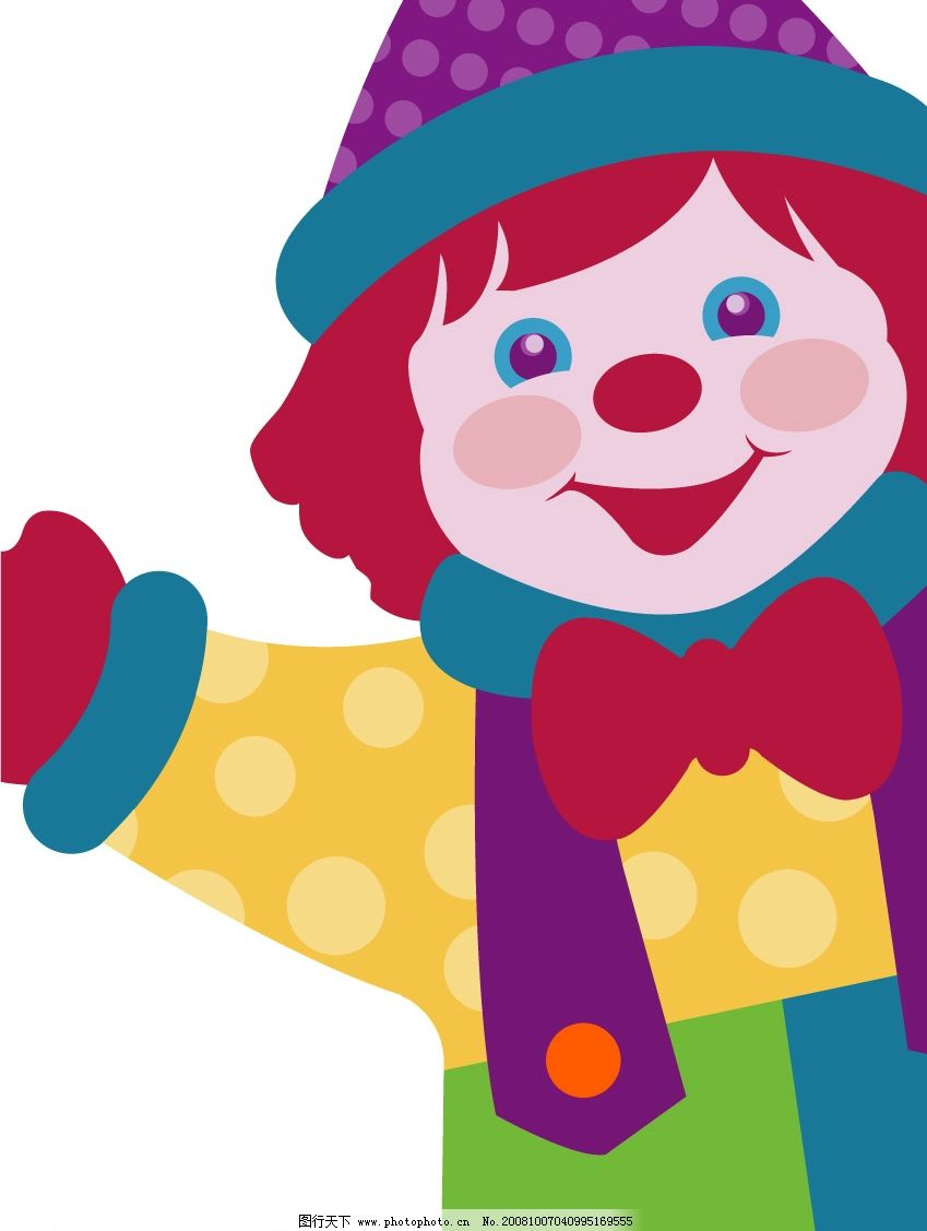 小丑 儿童 玩具 小人 魔术师 矢量人物 儿童幼儿 矢量图库