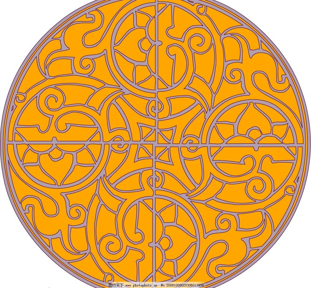 古典园 花纹 底纹边框 花纹花边 矢量图库 eps