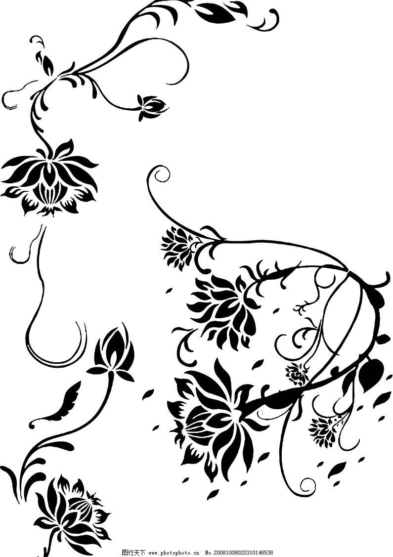 花素材 花纹 底纹边框 花纹花边 矢量图库 eps