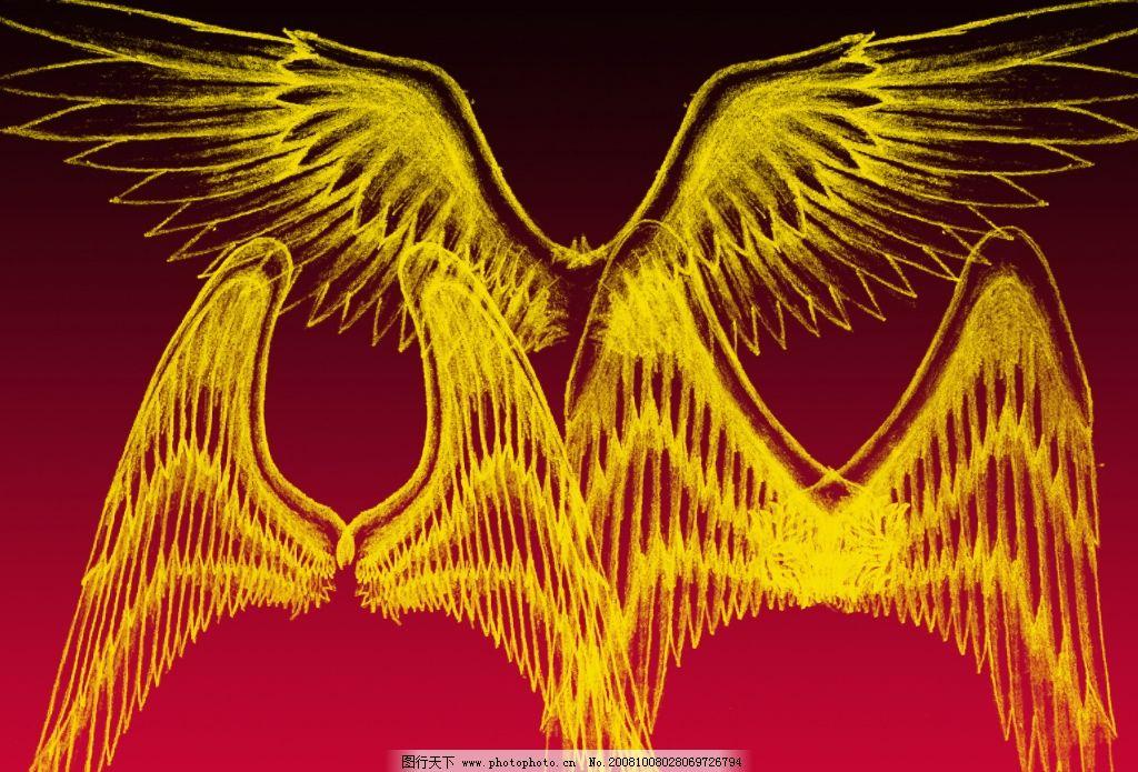 漂亮天使翅膀笔刷之五 漂亮天使翅膀笔刷 ps笔刷 其他笔刷 源文件库