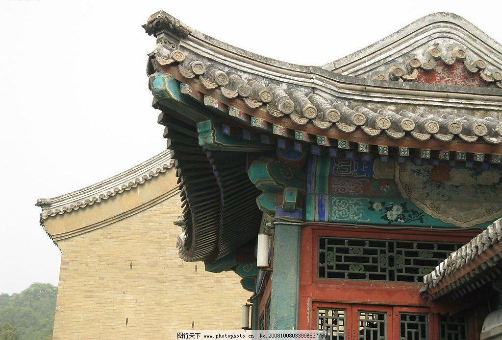 古代建筑一角图片