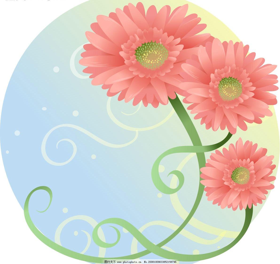 矢量花卉 其他矢量 矢量素材 矢量图库 eps