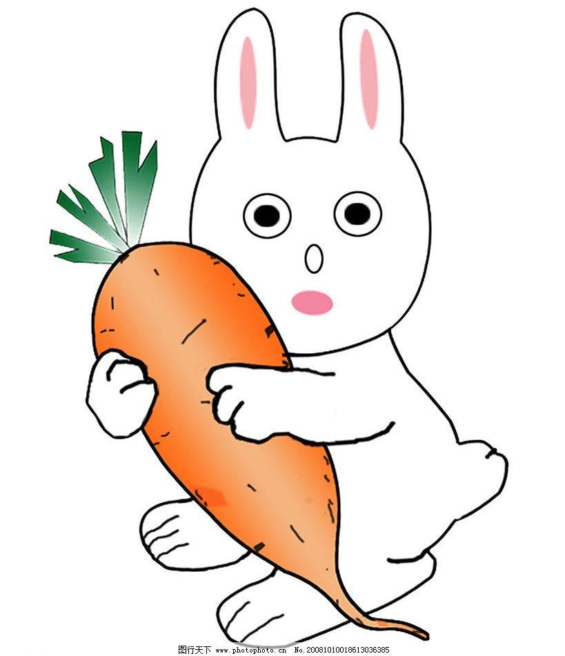 小兔子 胡萝卜 动漫动画 其他 设计图库 120dpi jpg