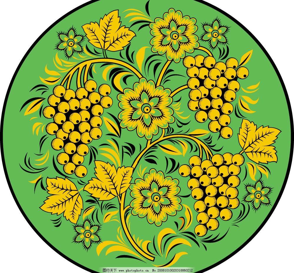 黄金色彩西方花纹纹理素材图片