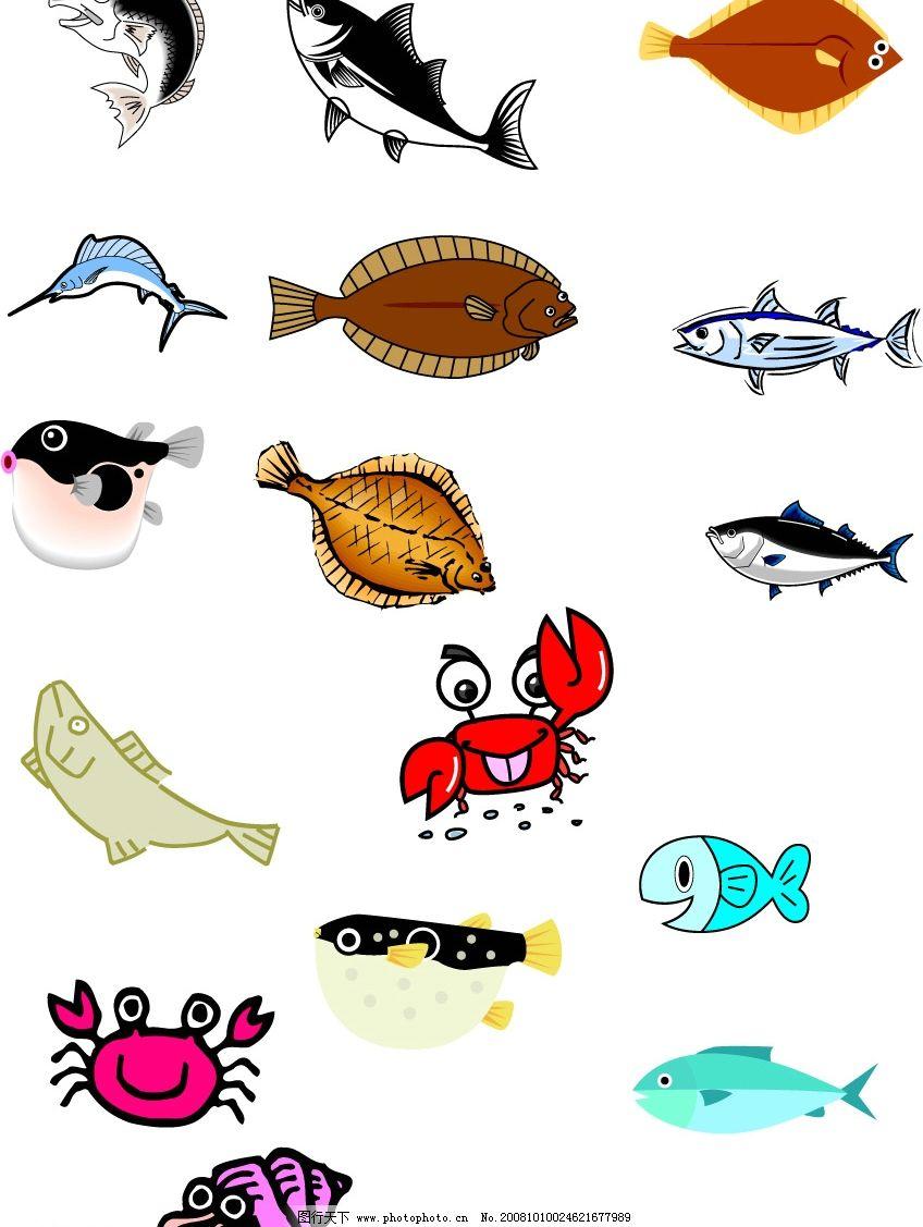 鱼类 生物 海底 矢量图库