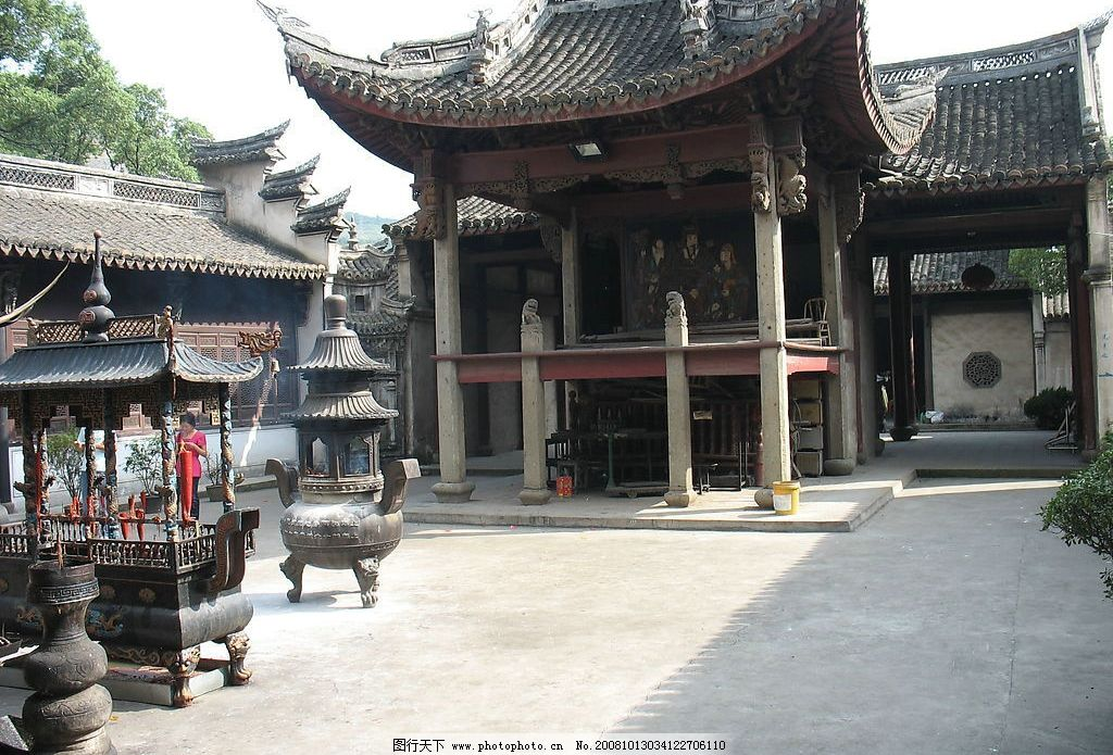嵊州清风庙 庙 庙宇 风景 摄影 古建筑 香 香炉 佛 拜佛 旅游摄影