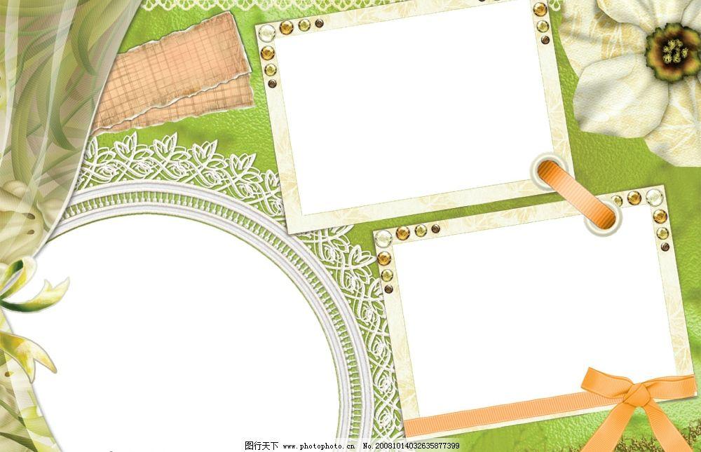 相片模板 草绿色 铜镜 摄影模板 其他模板 源文件库 72dpi psd