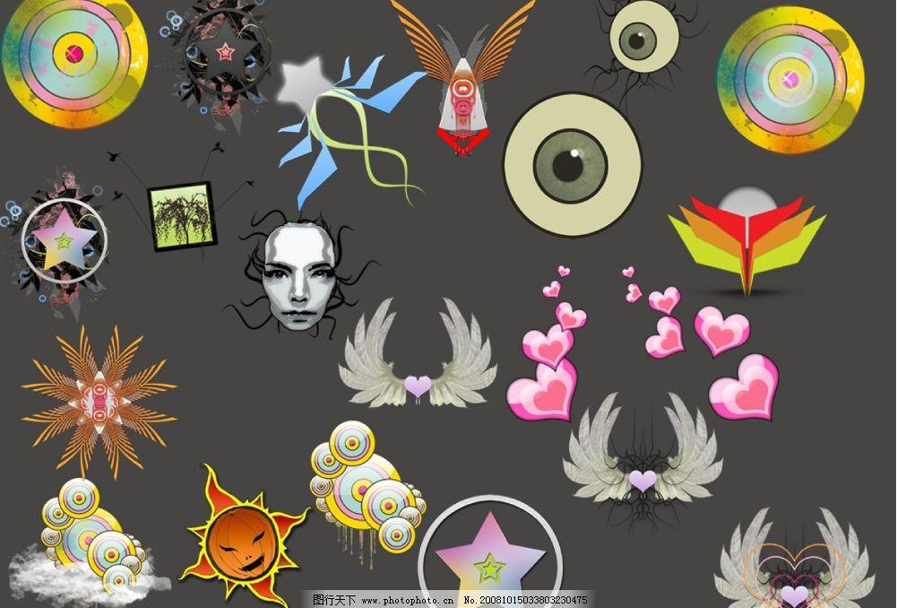 现代艺术系列图标图片_其他图片素材_其他_图行天下