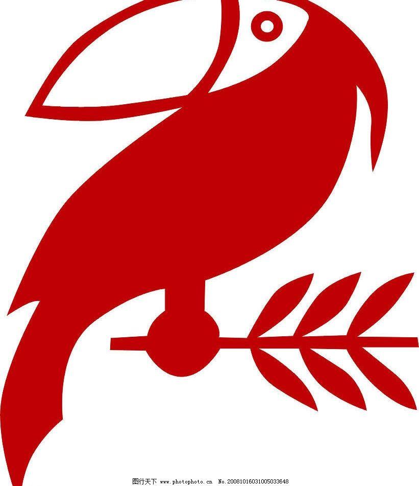 啄木鸟 cdr格式 的标 广告设计
