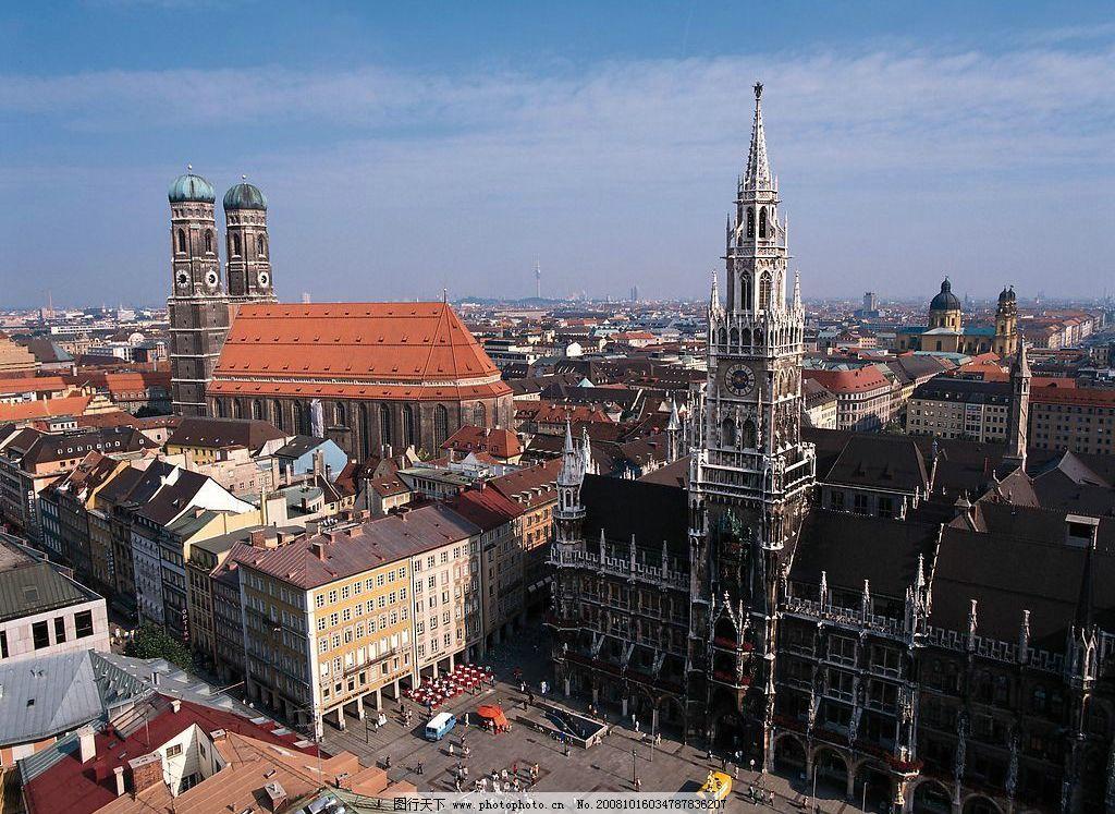 慕尼黑风光 德国 欧洲 广场 风景 市政厅 哥特建筑 世界风光