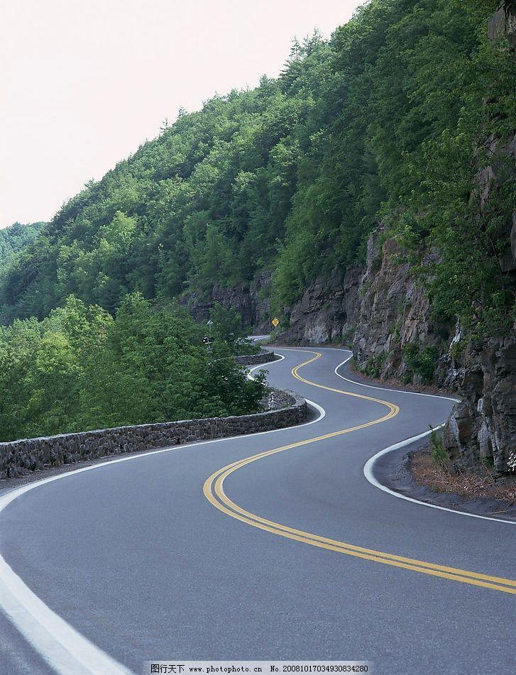 弯曲的公路 柏油路 路边风景 自然景观 其他 道路 摄影图库