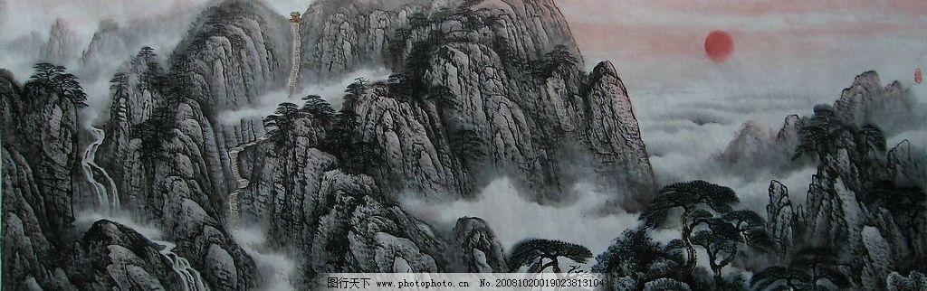 泰山山水画系列 泰山 山水画 系列 中国画 水墨画 文化艺术 绘画书法