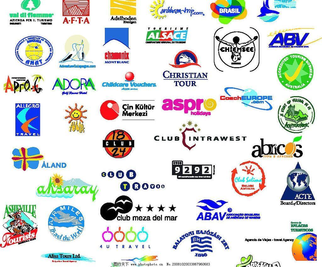 旅游标志矢量图片