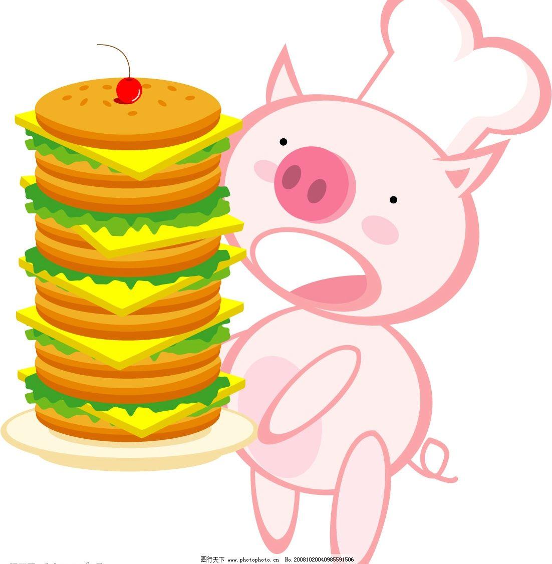 超可爱活泼健康卡通小猪系列图片,小猴子 标签 表情