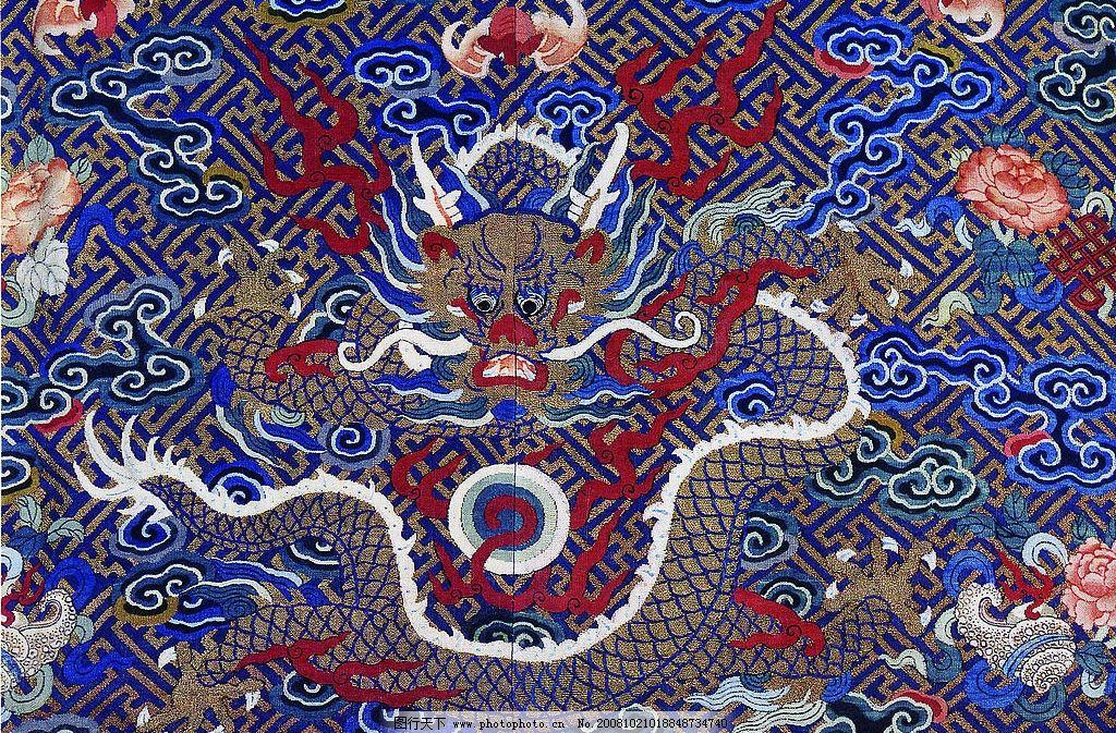 刺绣龙舞 龙 云 祥云 蝙蝠 吉祥物 刺绣 朝服 底纹 龙珠 火 文化艺术