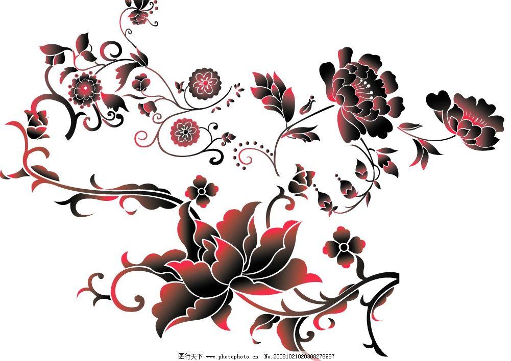 简单好看的花纹样