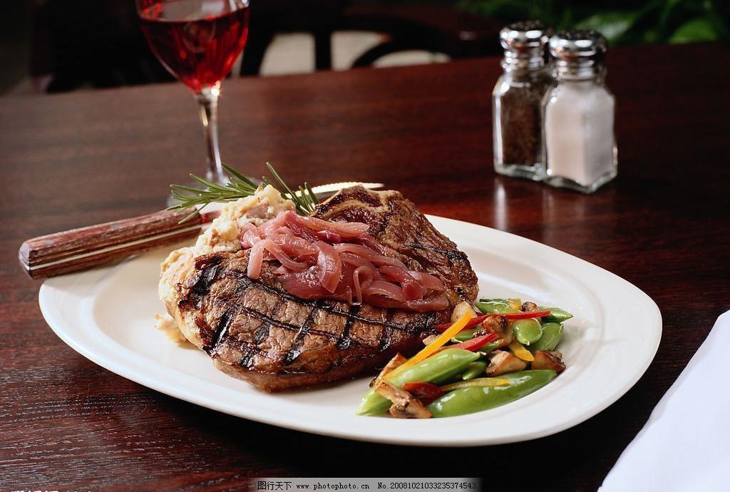jpg 扁豆 餐饮美食 红酒 牛排 摄影图库 西餐 西餐美食 牛排图片素材