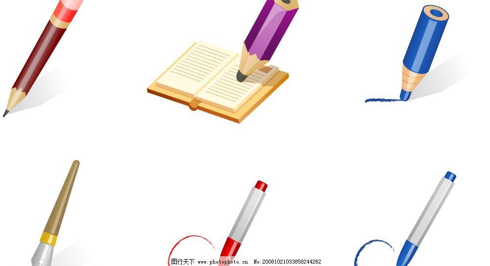 各种笔 矢量 铅笔 钢笔 水笔 素材 其他矢量 矢量素材 矢量图库 ai