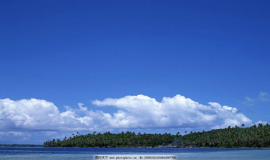 蓝天 山水 大海图片