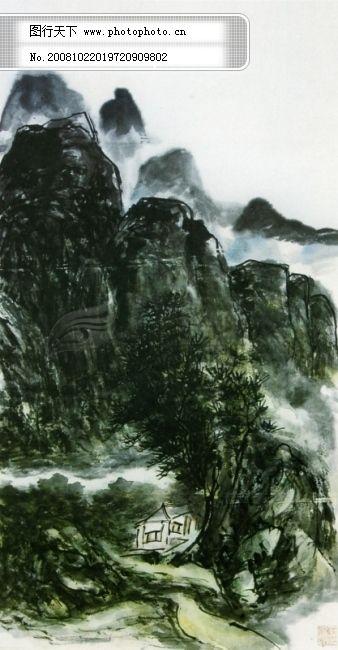 山水画 山水画免费下载 背景 临摹 色彩 书法 水墨 作品 作品