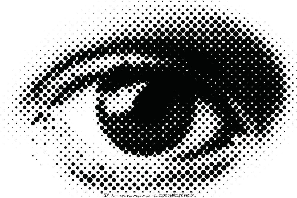 圆形网点眼睛矢量素材图片