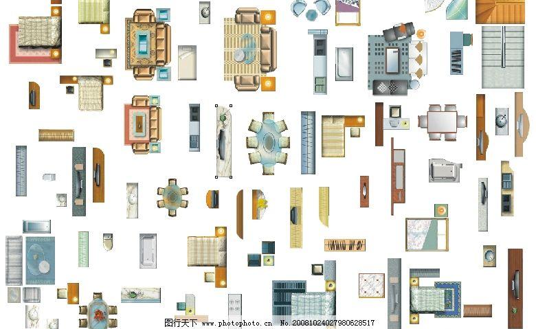 家具矢量素材(素材为单个位图)图片