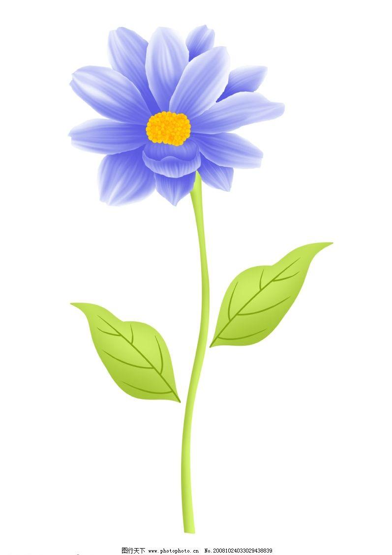 分层psd蓝色花朵 一朵蓝色的花 psd分层素材 源文件库 300dpi psd