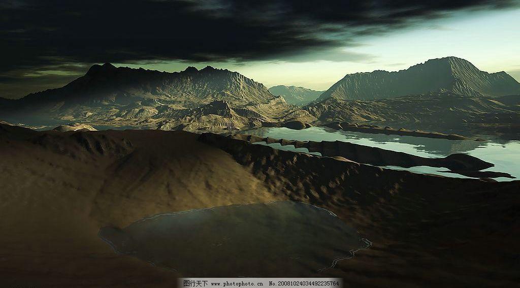 山川图 自然景观 自然风景 山川傍晚 壮丽山川 壁纸 意境 山水风景