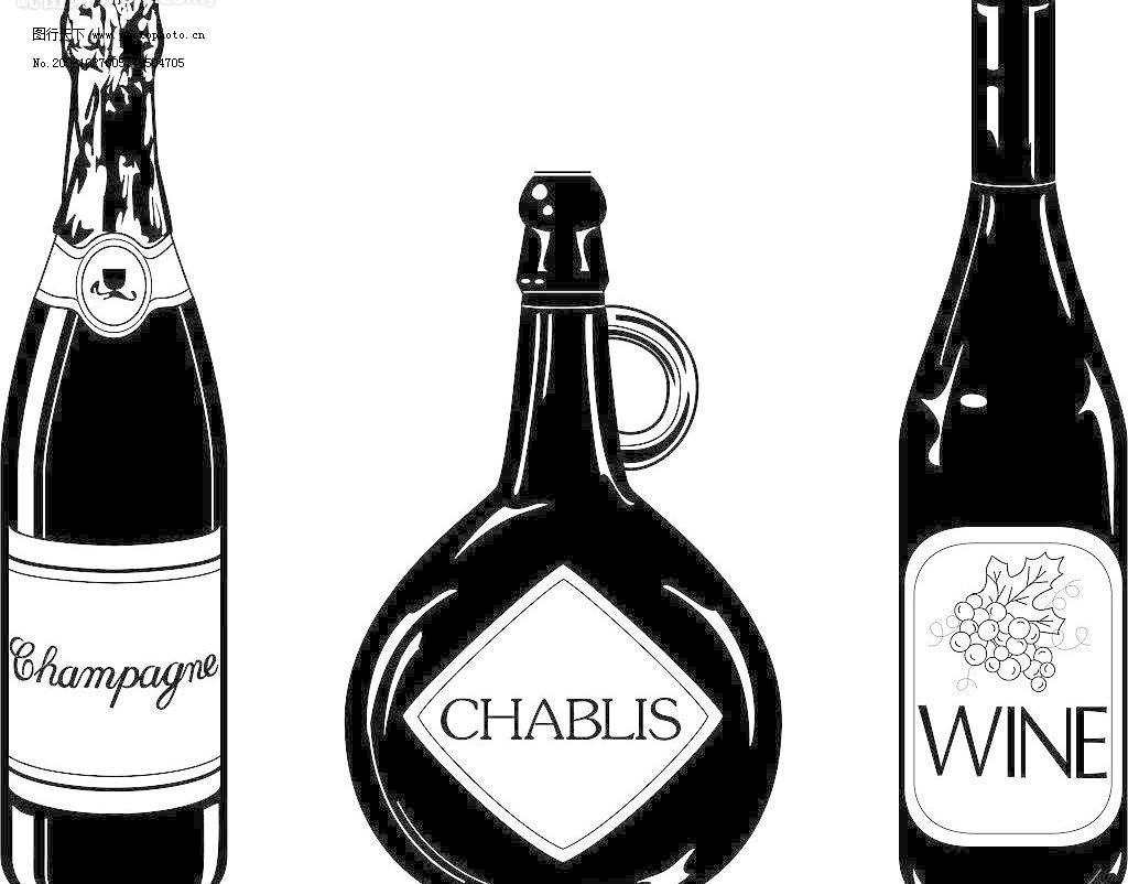 设计图库 海报设计 美食海报  黑白啤酒红酒洋酒图片免费下载 cdr