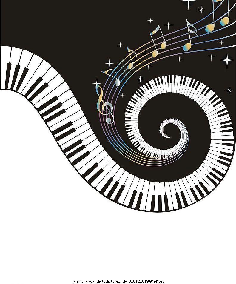 钢琴键 文化艺术 舞蹈音乐 矢量图库 cdr