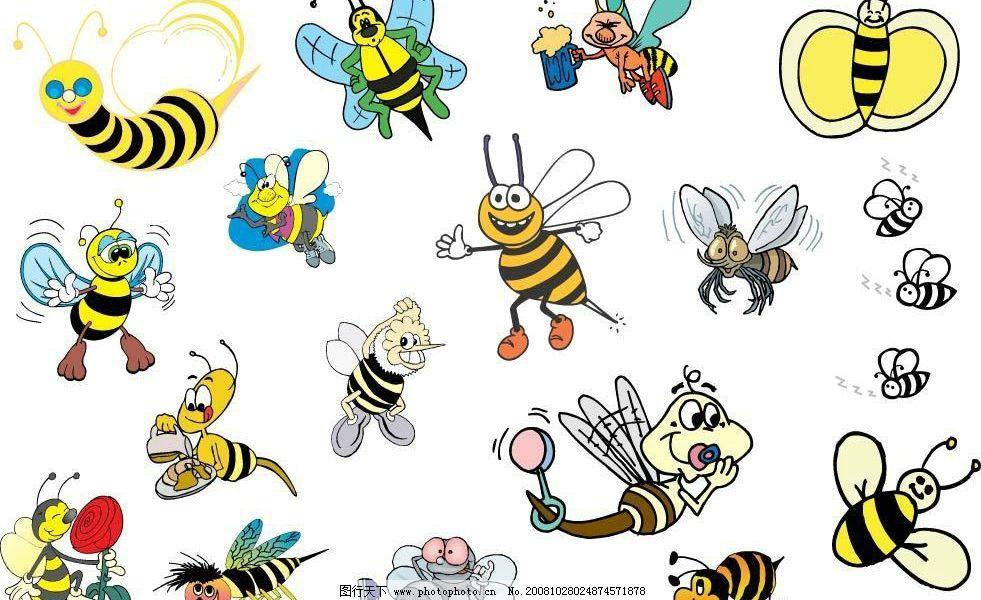 蜜蜂 蜜蜂矢量图 生物世界 昆虫 矢量图库 ai