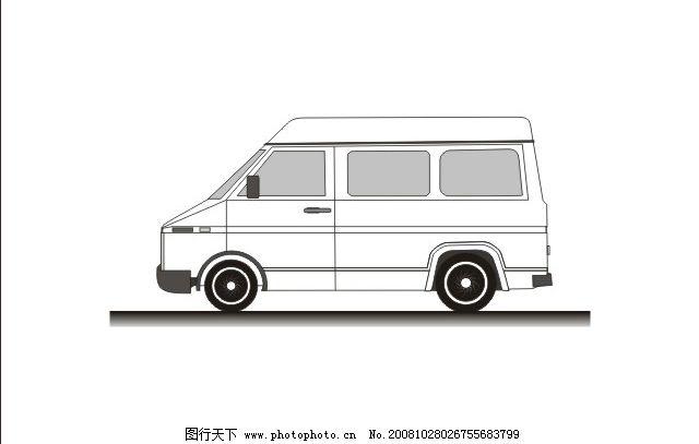 依维柯汽车 左侧面 右侧面 后面 车体 其他矢量 矢量素材 矢量图库