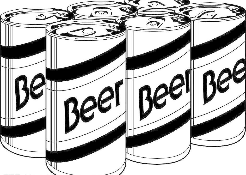 矢量黑白啤酒 矢量黑白啤酒图片免费下载 其他矢量 矢量素材 矢量图库