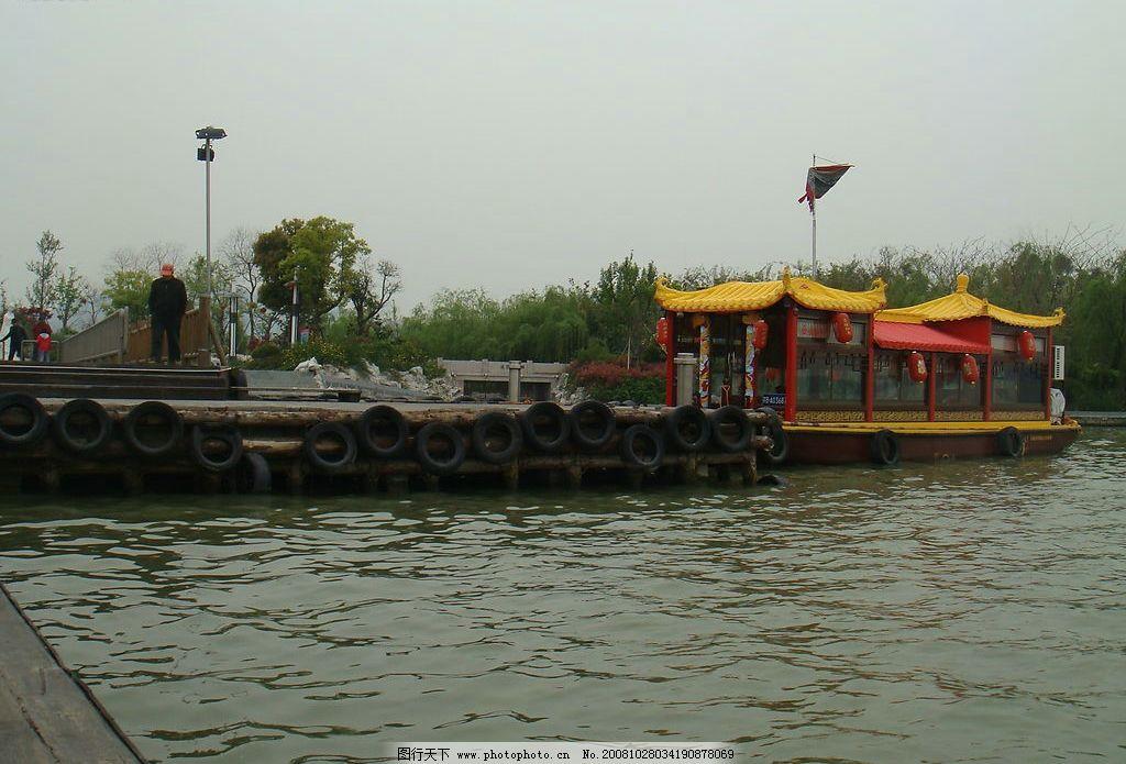 龙船 太湖水 蠡湖 柳树 旅游摄影 自然风景 摄影作品 摄影图库 72dpi