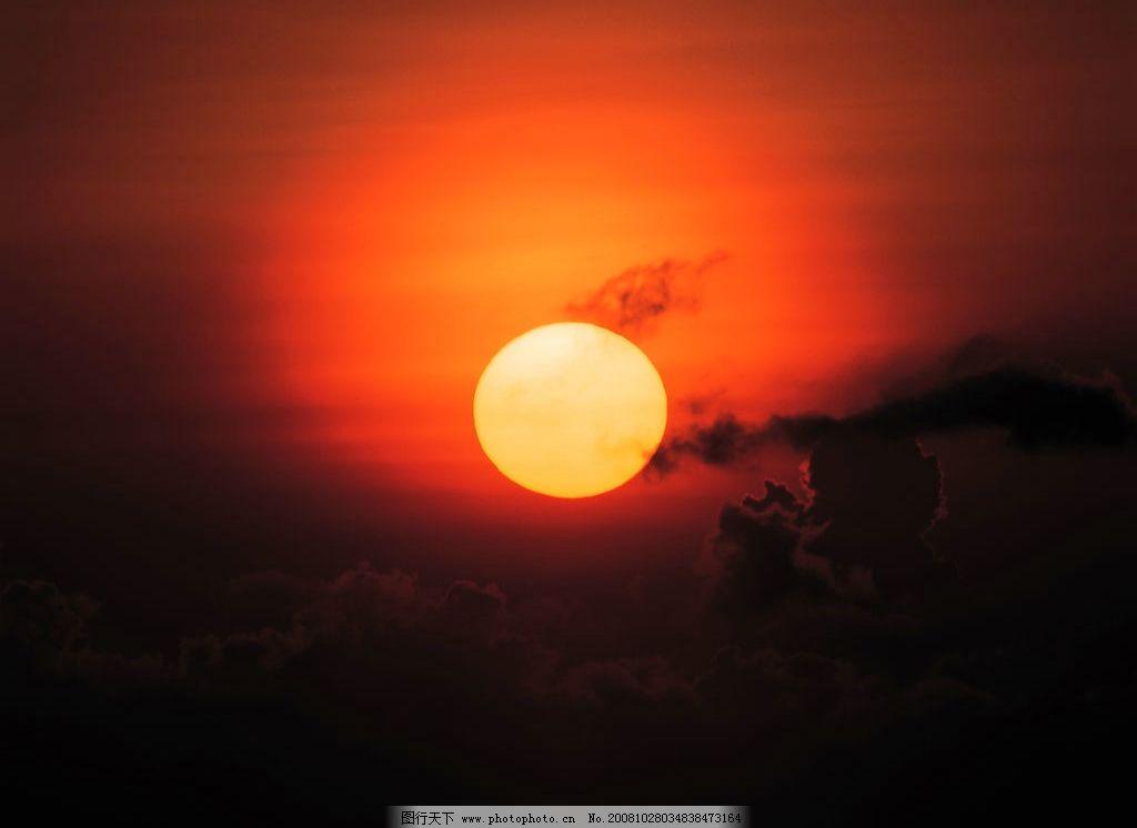 金色太阳 背景图 火红火景 月圆 摄影图 自然风景 高精度图片 350 jpg