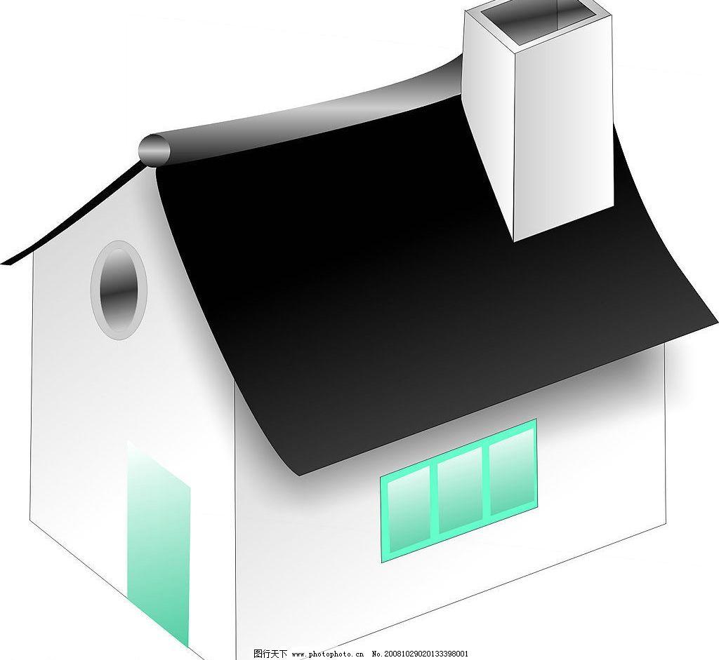 房子图标 标识标志图标 其他 矢量图库 cdr