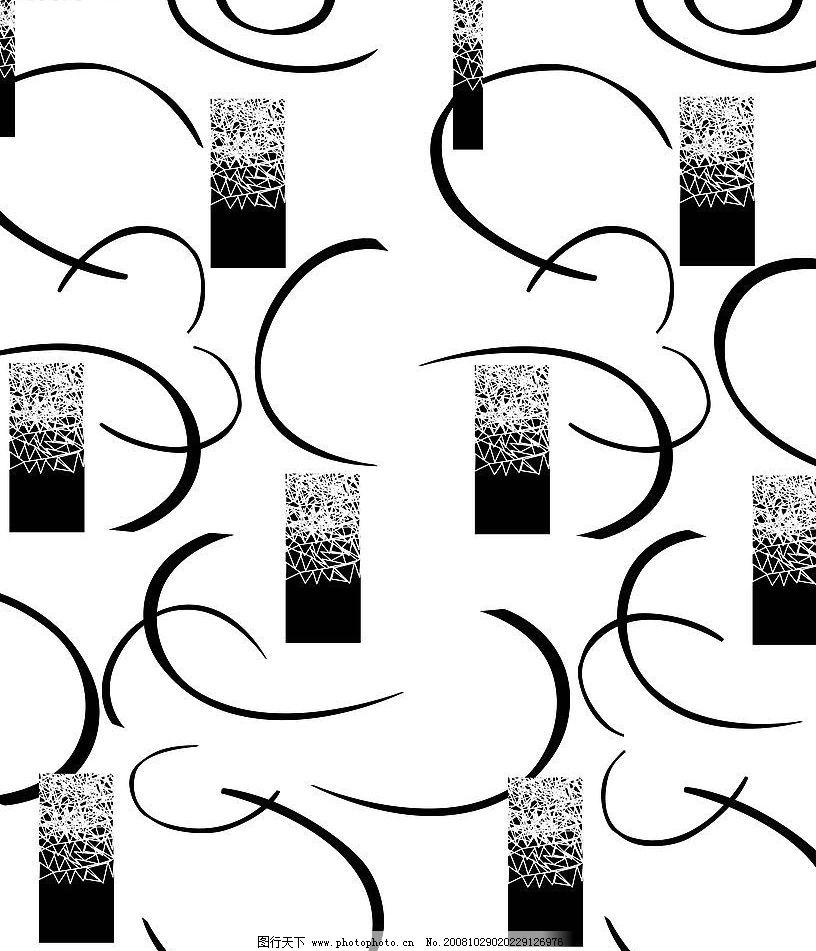 黑白 线条 方型图片