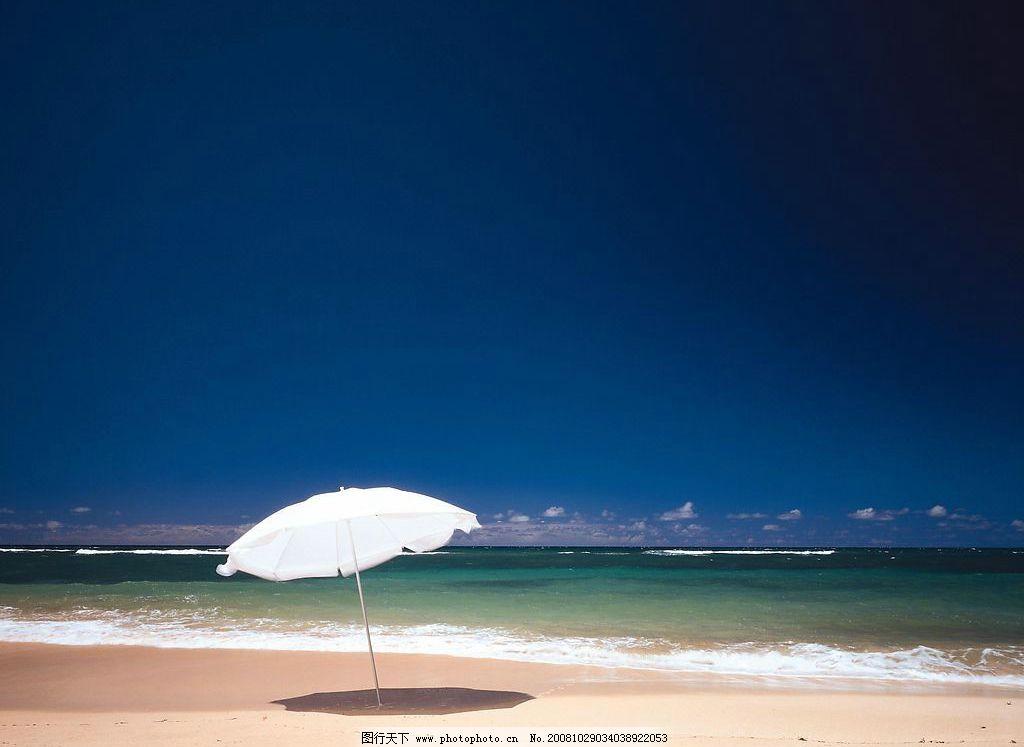 海滩 海边 水 沙滩 海水 太阳伞 天空 风景 旅游摄影 国外旅游 夏威夷