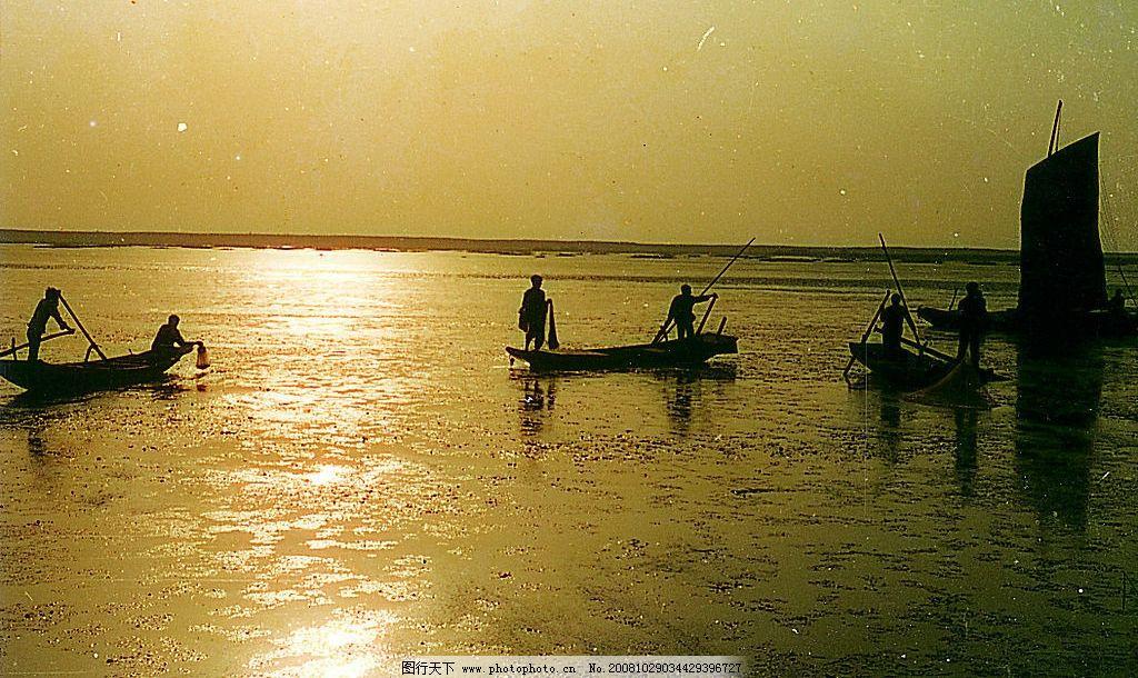 夕阳 自然景观 山水风景 摄影图库