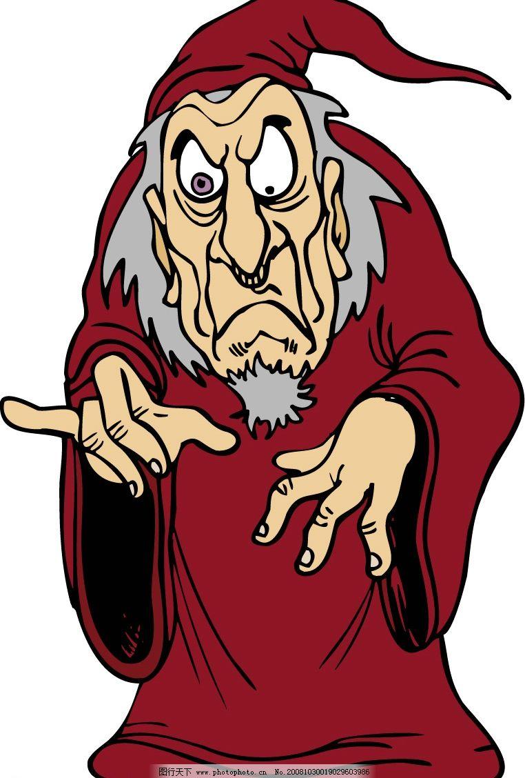 巫师 人物/漫画/巫师 文化艺术 美术绘画 欧美漫画 矢量图库