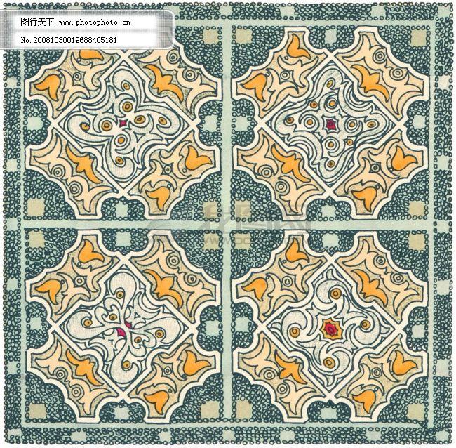 地毯 花纹 坐垫 矩形 毛毯 图纹 布料 布匹 欧洲风情