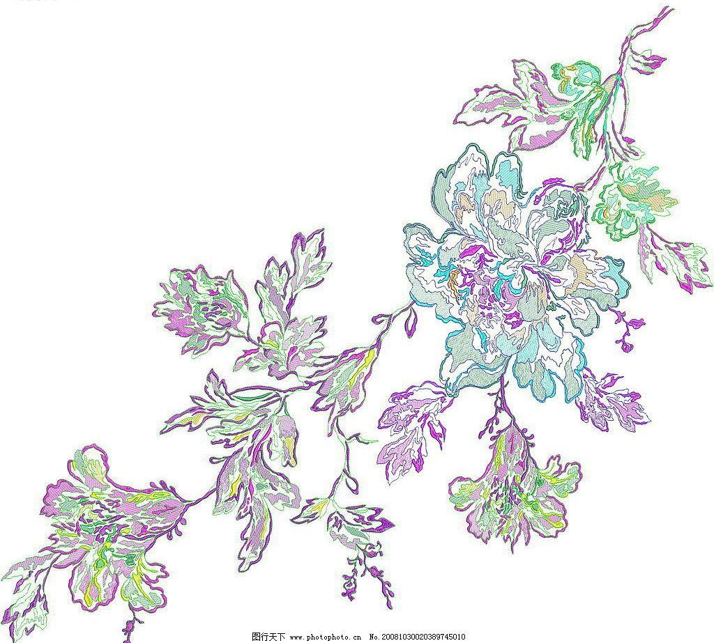 花纹 玫瑰 绣花 图案 针法 底纹边框 花边花纹